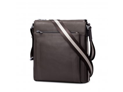 Pánská kožená taška přes rameno Sammons Runner šedá