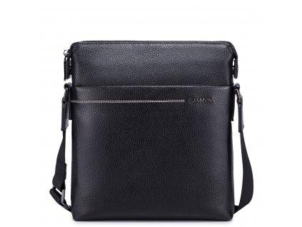 Pánská kožená taška přes rameno Sammons Travel černá