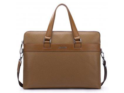 Luxusní pánská kožená taška Sammons Sam hnědá