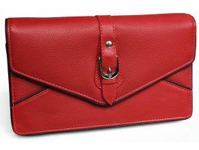 Dámská kožená peněženka Nivasaža N210-PIC-R červená
