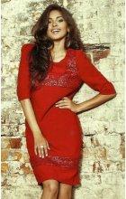 červené polečenské šaty kód m155 42 společenské šaty s ...