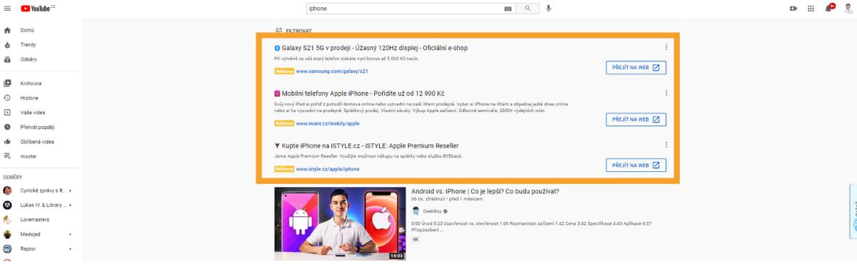 Výkonnostní reklama na YouTube, Google nákupy, online marketing, nastavení výkonnostní kampaně na YouTube, Filipes Media.