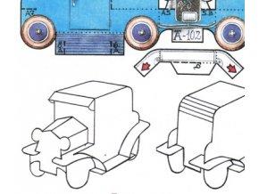 autíčko - skládanka