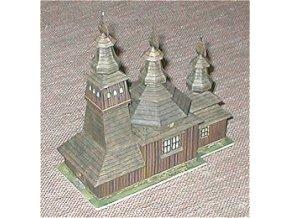 dřevěný kostelík z Ladomírové