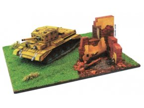 Cromwell 3A + trosky zničeného domu