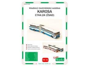 Karosa C744.24 - ČSAD (modrá)