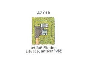 Letiště Slatina, situace, anténní věž