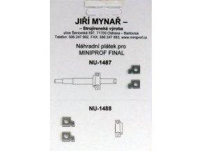 Břity pro Miniprof Final R2V - spodní
