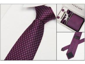 Luxusní dárkový balíček - kravata purpurová