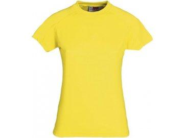 Dámské funkční tričko (Barvičkaa žlutá, Velikost XS, Varianta potisku varianta 12_výšivka (záda SV - SV web))