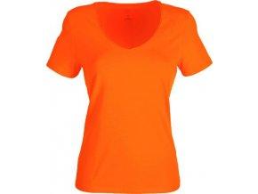 Dámské tričko do V (větší výstřih) (Barvičkaa žlutá, Velikost XS, Varianta potisku varianta 12_výšivka (záda SV - SV web))