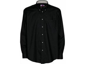Pánská košile dlouhý rukáv (Barvičkaa tmavě modrá, Velikost XS, Varianta potisku varianta 12_výšivka (záda SV - SV web))