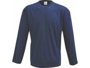 pánské tričko dlouhý rukáv (Barvičkaa námořnická modř, Velikost XS, Varianta potisku varianta 12_výšivka (záda SV - SV web))