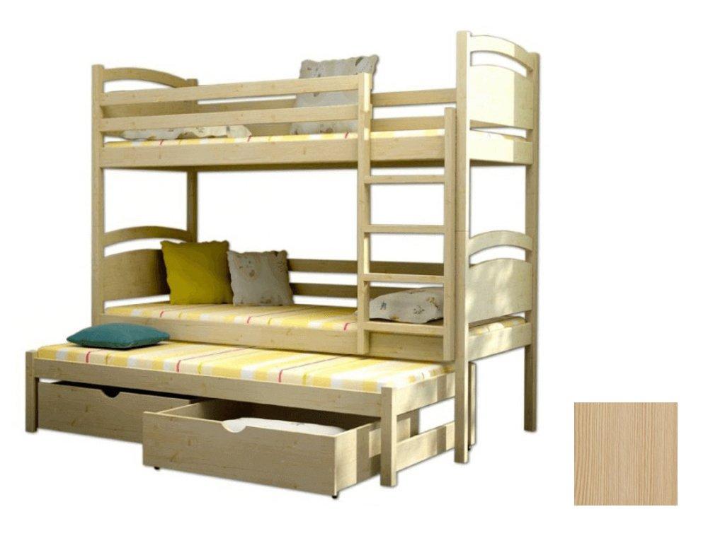 24286178afd1 Poschodová posteľ s prístelkou Petra 2 180x80