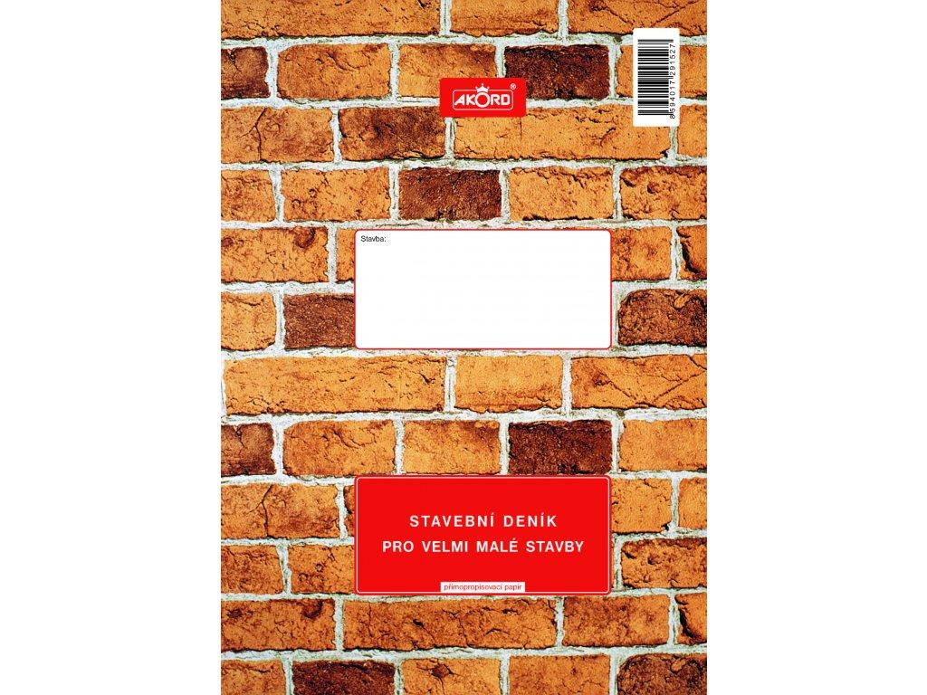 152 Stavební deník pro velmi malé stavby