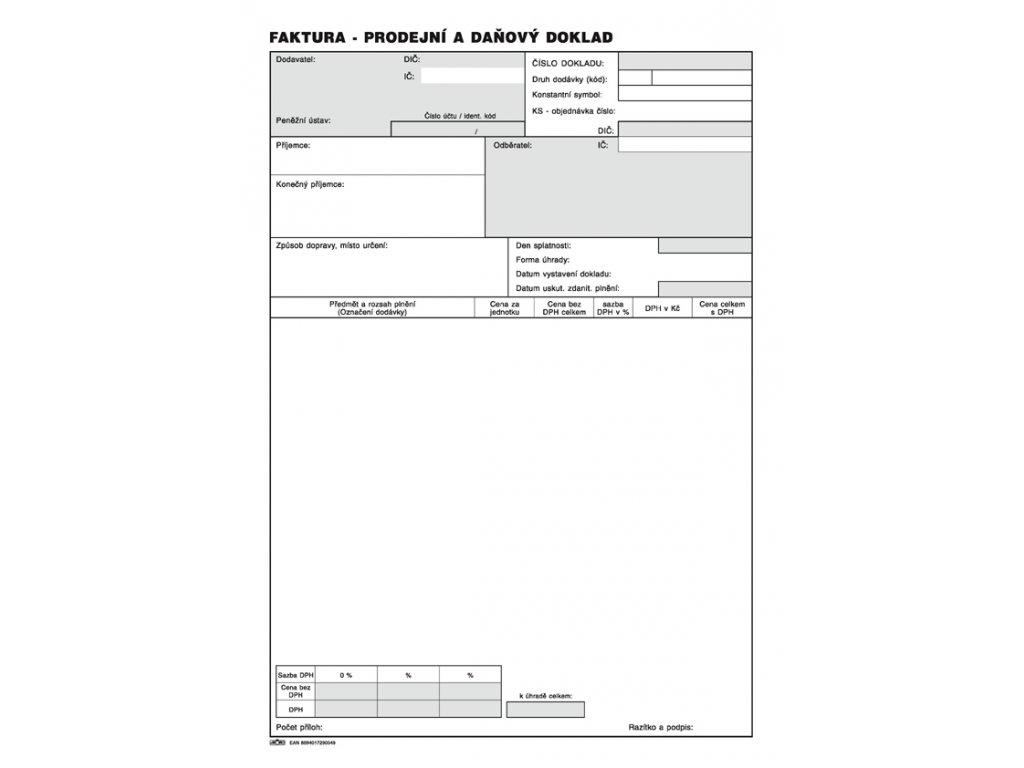 004 Faktura daňový doklad A4