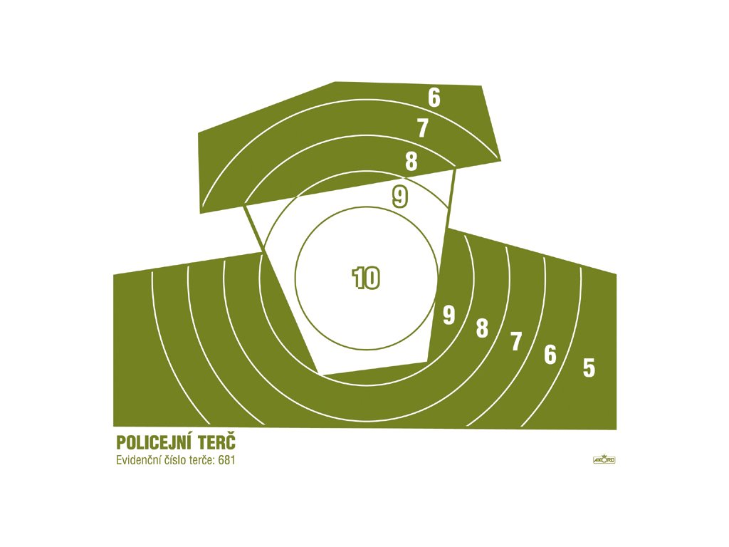 681 policejní terč