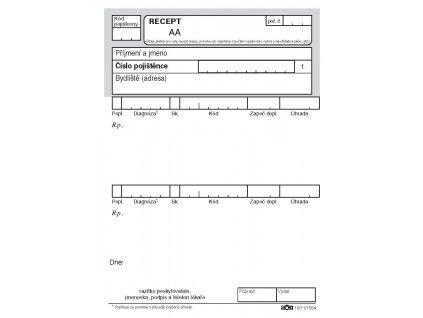 201 lekařský recept volný prodej (963001 975000) Stránka 1