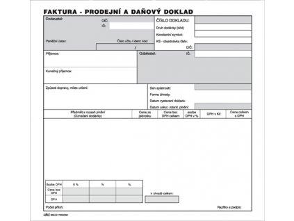 005 Faktura Prodejní a daňový doklad 2 3 A4