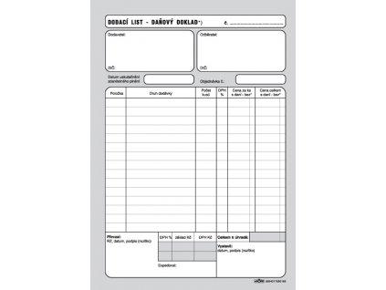 016 Dod. list daňový doklad A5