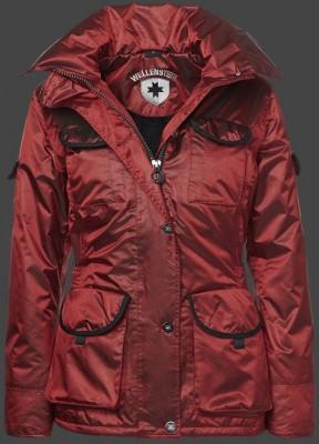 Červená lesklá športová dámska bunda na zimu Wellensteyn Revolution Winter