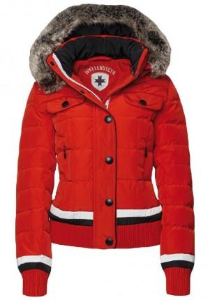 Červená prešívaná dámska bunda Wellensteyn Snowflake, páperová krátka