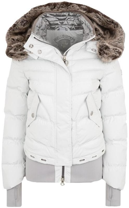 Biela prešívaná zimná dámska bunda Wellensteyn Queens