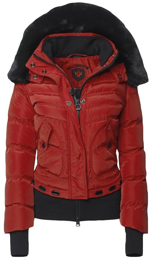 Prešívaná dámska bunda na zimu Wellensteyn Queens, červená