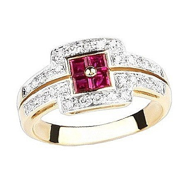 Prsteny kombinované zlato