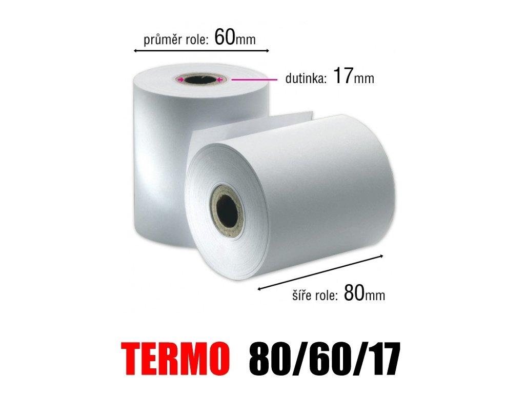 pokladni kotoucek termo 80 60 17mm original