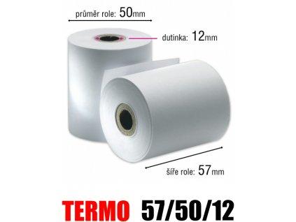 pokladni kotoucek termo 57 50 12mm original
