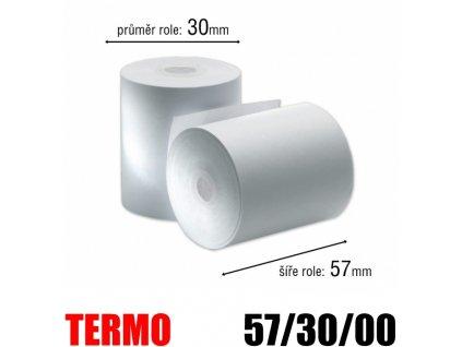 pokladni kotoucek termo 57 30mm bez dutinky original