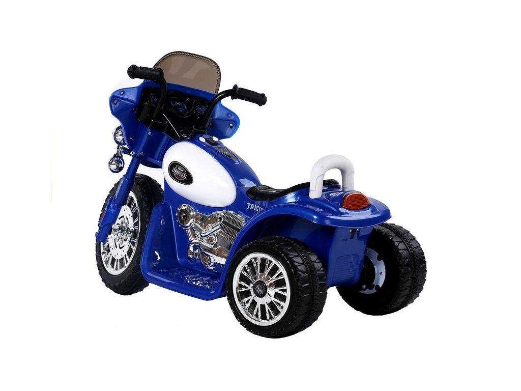 Elektrická motorka Chopper modrý malypretekar ružová