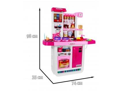 Detská interaktívna kuchynka KITCHEN MY LITTLE CHEF malypretakr hračky pre deti pre dievčatá pre chlapcov modrá červen (1)