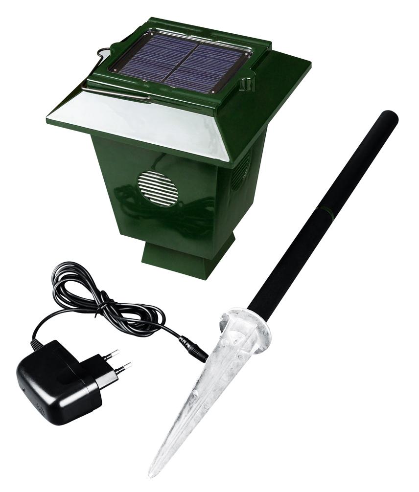 Solární plašič ptáků ultrazvukový