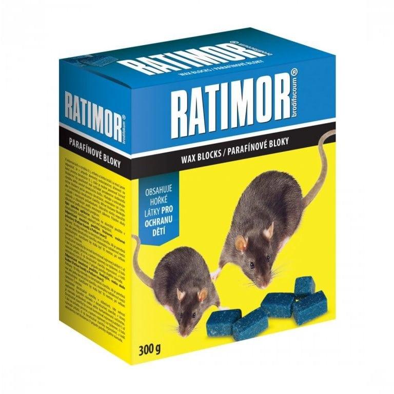 Nejlepší jed na potkany - parafinové bloky Ratimor
