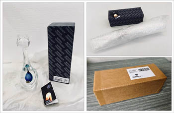 Safety packaging of our glass product.