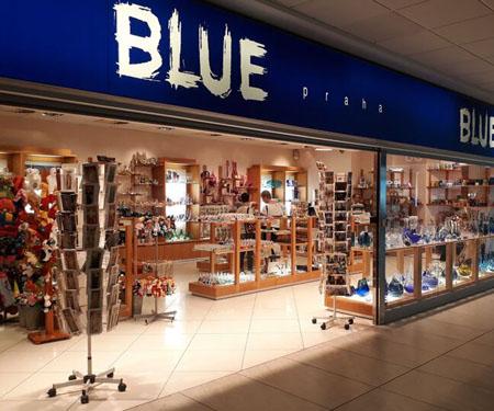 Obchod Blue Praha na letišti Praha.