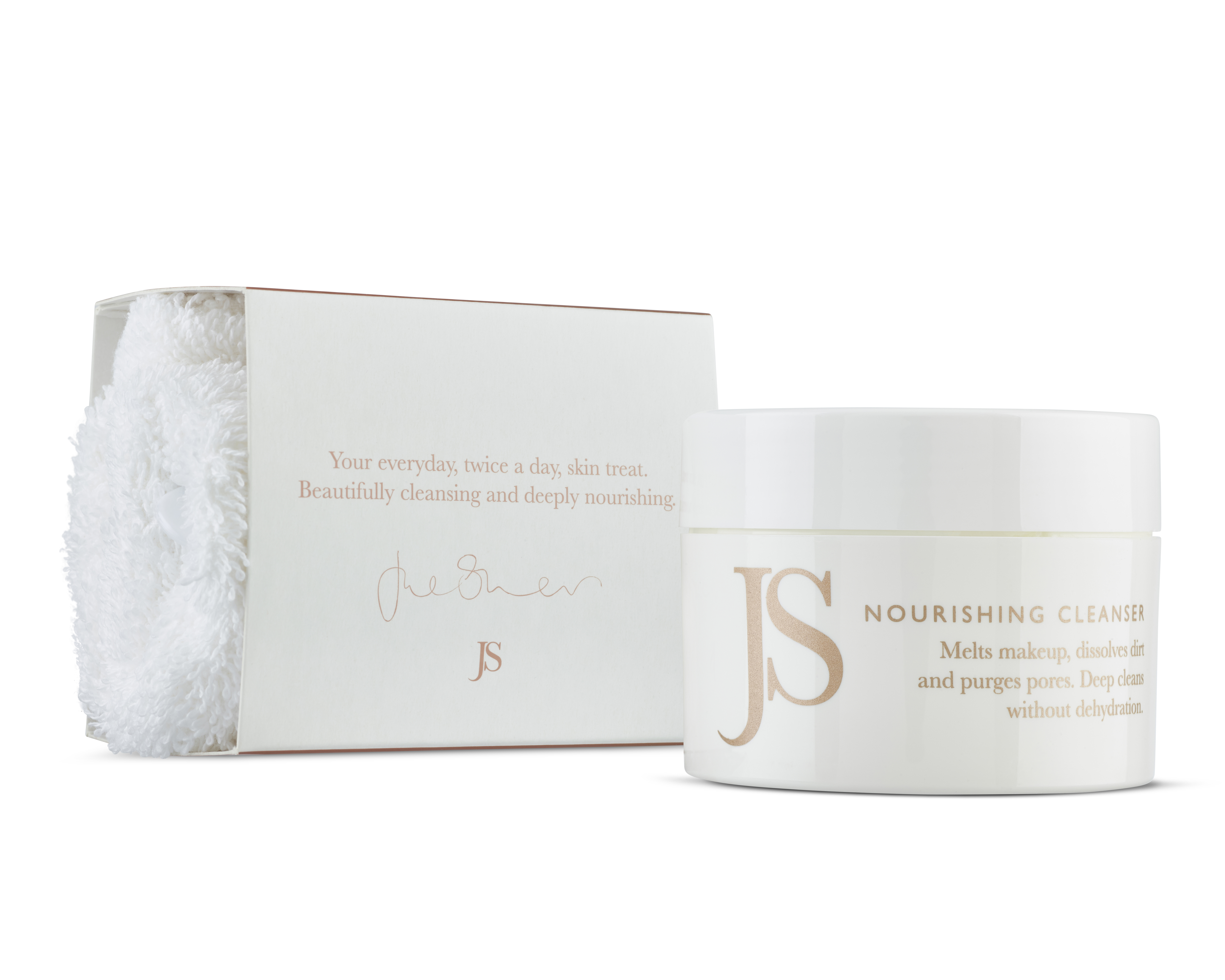 NOURISHING CLEANSER 100ml Jar plus Mitt Pack with Drop Shadow