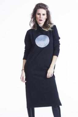 Mikela da Luka úpletové šaty s glitter potiskem