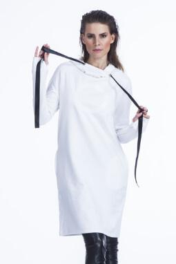 Mikela da Luka úpletové šaty/mikinošaty s potiskem