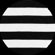 Mikela da Luka - černobílý proužek -  elastický bavlněný jednolícní uplet
