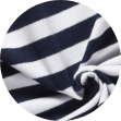 Mikela da Luka -  modro-bílý proužek - elastický bavlněný jednolícní uplet