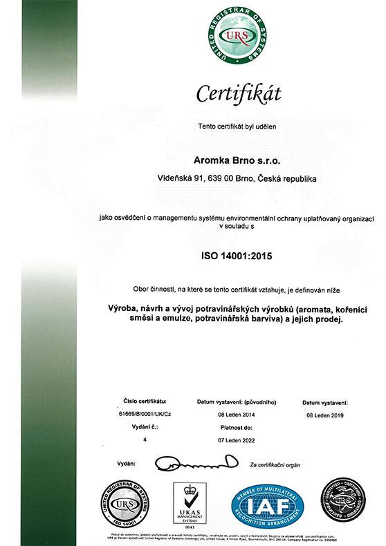 ISO 9001:2015 - zobrazit jen certifikát