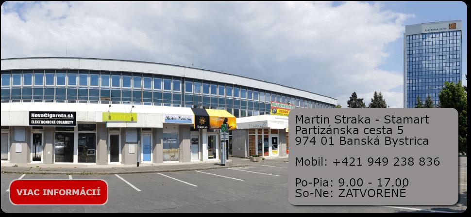 predajňa s elektronickými cigaretami a e-liquid náplňami Partizánska cesta 5, Banská Bystrica
