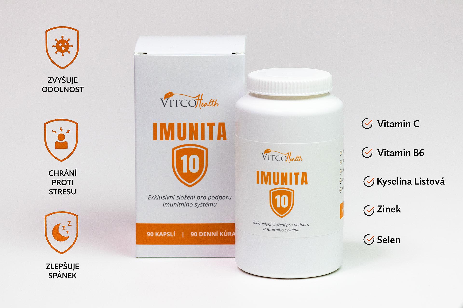 Prozkoumat Vitco Health IMUNITA 10