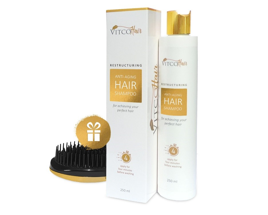 VitcoHair Shampoo Anti-Aging Restructuring, For Achieving