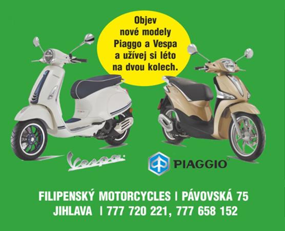 Objev nové modely Pisggio a Vespa a užívej si léto na dvou kolech.