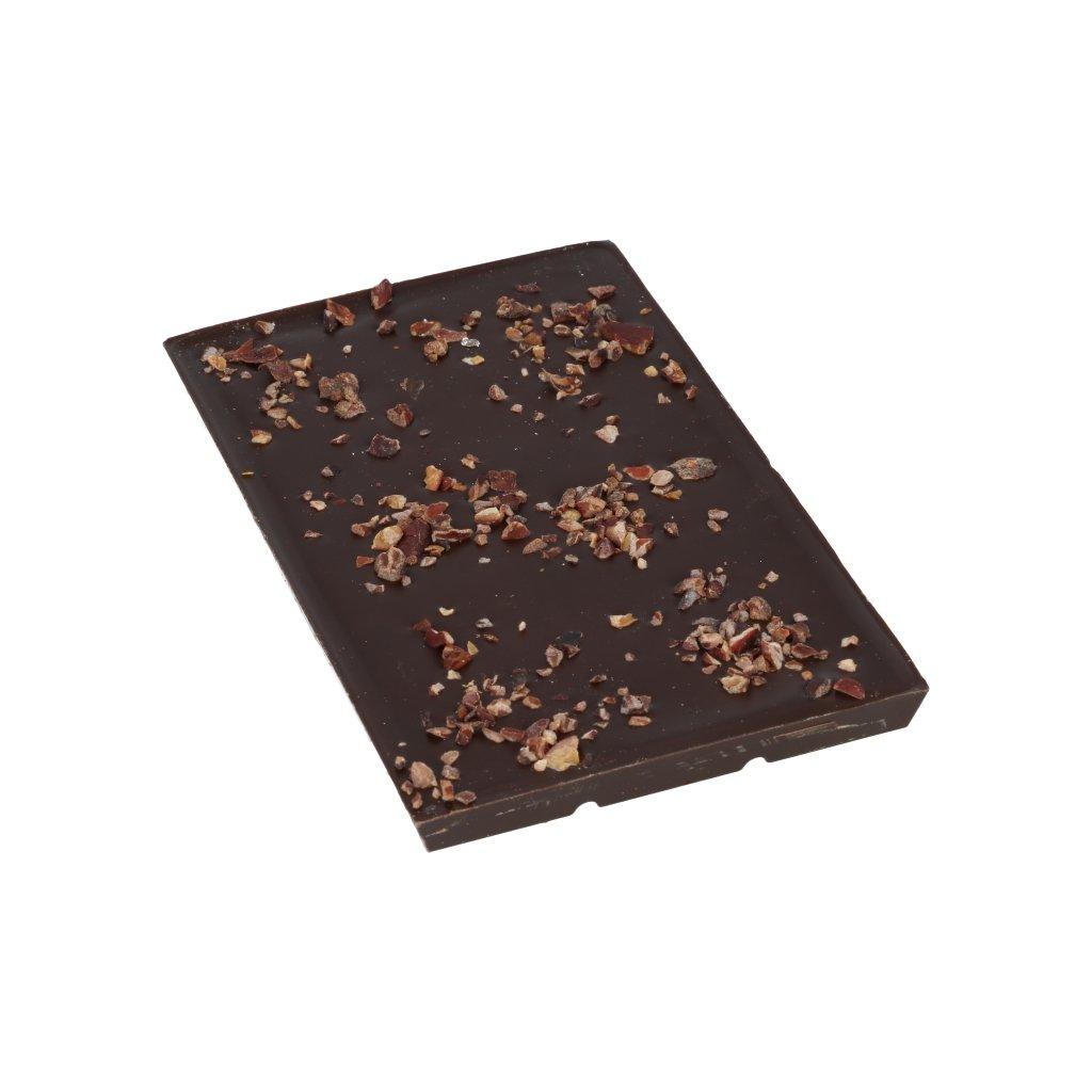 čokoládová tabulka 100g - drcené kakaové boby CRIOLLO