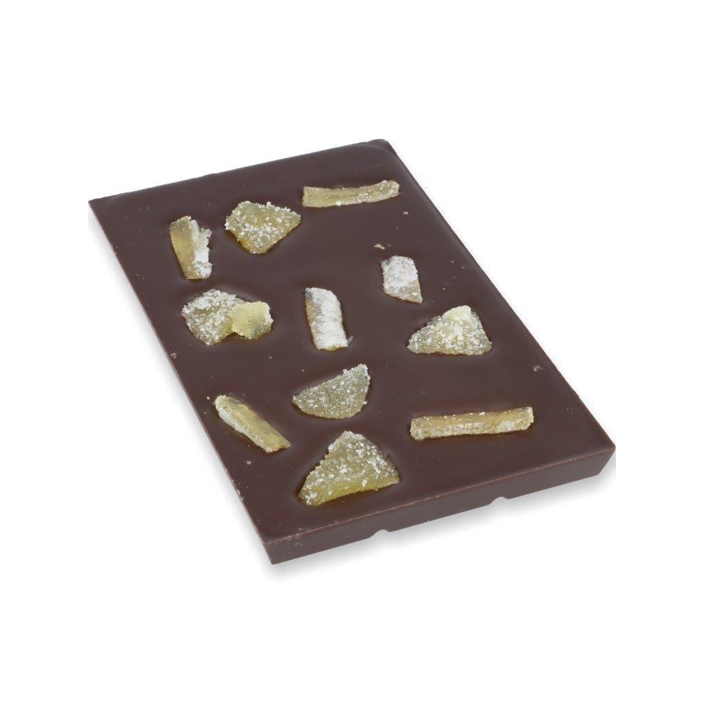 čokoládová tabulka 100g - zázvor + pomerančová kůra